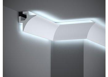Lijst & Ornament Plint LED QL002 (85 x 85 mm), lengte 2 m