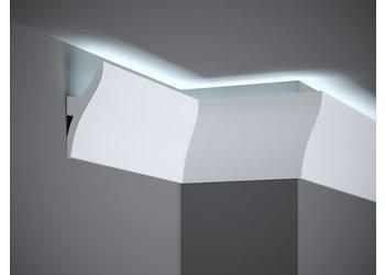 Lijst & Ornament Plint LED QL010 (120 x 42 mm), lengte 2 m