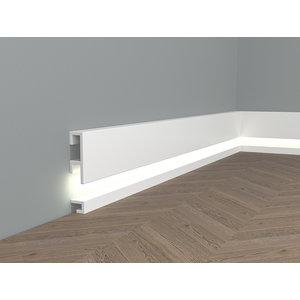 Lijst & Ornament Plint QL021 (20 x 25 mm), lengte 2 m