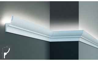 Grand Decor KF701 (70 x 40 mm), lengte 2 m, PU - LED sierlijst voor indirecte verlichting
