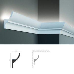 Grand Decor Polyurethaan - LED sierlijst voor indirecte verlichting, KF712 (100 x 55 mm), lengte 2 m
