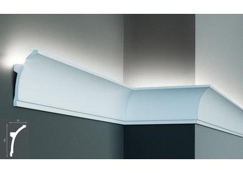 Grand Decor Polyurethaan - LED sierlijst voor indirecte verlichting, KF704 (100 x 50 mm), lengte 2 m