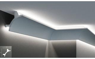 Grand Decor KF703 (90 x 90 mm), lengte 2 m, PU - LED sierlijst voor indirecte verlichting