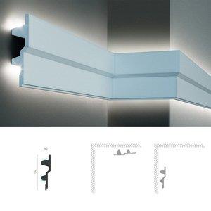 Grand Decor Polyurethaan - LED sierlijst voor indirecte verlichting, KF709 (150 x 40 mm), lengte 2 m