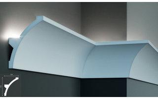 Grand Decor KF708 (140 x 106 mm), lengte 2 m, PU - LED sierlijst voor indirecte verlichting