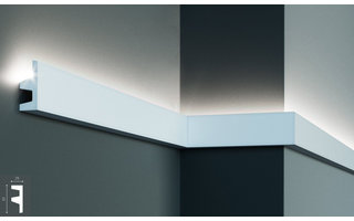 Grand Decor KF501 (62 x 25 mm), lengte 2 m, PU - LED sierlijst voor indirecte verlichting