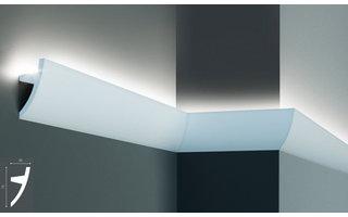 Grand Decor KF502 (75 x 36 mm), lengte 2 m, PU - LED sierlijst voor indirecte verlichting