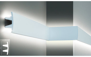 Grand Decor KF503 (100 x 45 mm), lengte 2 m, PU - LED sierlijst voor indirecte verlichting