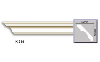 Grand Decor Kroonlijst K234 (50 x 50 mm), polyurethaan, lengte 2 m