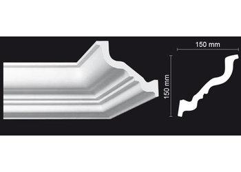 NMC Kroonlijst Nomastyl TL+ (150 x 150 mm), lengte 2 m