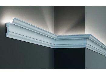Grand Decor Polyurethaan - LED sierlijst voor indirecte verlichting, KF717 (81 x 45 mm), lengte 2 m