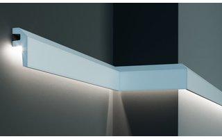 Grand Decor KF718 (79 x 34 mm), lengte 2 m, PU - LED sierlijst voor indirecte verlichting