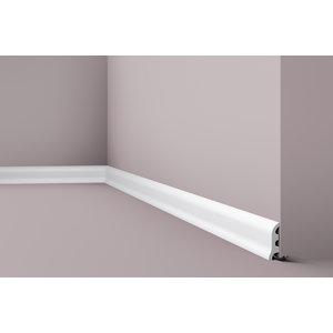 NMC Wallstyl / Floorstyl FL3 (55 x 17 mm), lengte 2 m (NMC Plint Carlo)