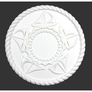 Grand Decor Rozet REGATTA SAILBOATS diameter 46,0 cm babykamer / kinderkamer