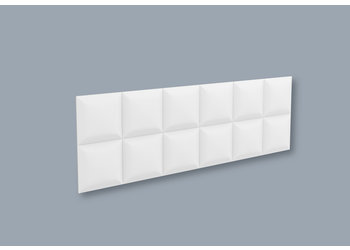 NMC 3D Wallpanel / Wandpaneel Square Polyurethaan - 5 Wandpanelen (1135 x 380 x 30 mm)