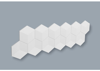 NMC 3D Wallpanel / Wandpaneel Cube Polyurethaan (1135 x 350 x 24 mm)  - 6 Wandpanelen