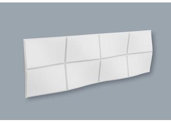 NMC 3D Wallpanel / Wandpaneel Bump Polyurethaan (1135 x 380 x 43 mm) - 3 wandpanelen