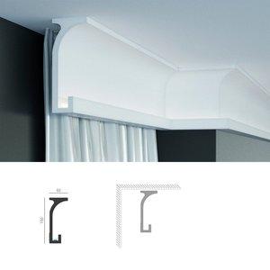 Grand Decor KF803 (150 x 60 mm), lengte 2 m, PU - Gordijnlijst LED lijst voor indirecte verlichting