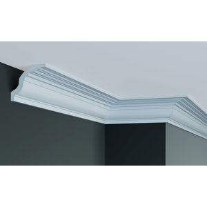 Grand Decor Kroonlijst P905 / K202  (75 x 82 mm), polyurethaan, lengte 2 m