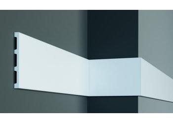 Grand Decor Platte plint CR958 / M227 (148 x 13 mm) polyurethaan, lengte 2 m