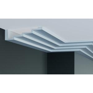 Grand Decor Steps Kroonlijst P886 (190 x 50 mm), polyurethaan, lengte 2 m