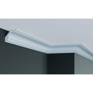 Grand Decor Plafondlijst K205 / P908 (59 x 59 mm), polyurethaan, lengte 2 m