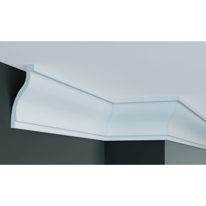 Grand Decor Plafondlijst K222 / P918 (130 x 60 mm), polyurethaan, lengte 2 m