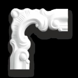 Grand Decor M201-1 hoekbochten (130 x 130 mm), polyurethaan, set (4 hoeken)