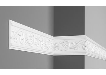 Grand Decor CR746 (126 x 14 mm), lengte 2 m, - Wandlijst Polyurethaan (PU) - Z12 -