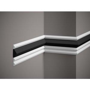 Lijst & Ornament Plint QL022 (20 x 10 mm), lengte 2 m