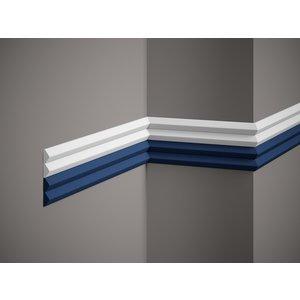 Lijst & Ornament Plint QL023 (40 x 19 mm), lengte 2 m