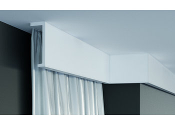 Grand Decor Gordijnlijst P890 (110 x 40 mm), polyurethaan, lengte 2 m