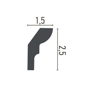 Grand Decor Kroonlijst P892 (25 x 15 mm), polyurethaan, lengte 2 m