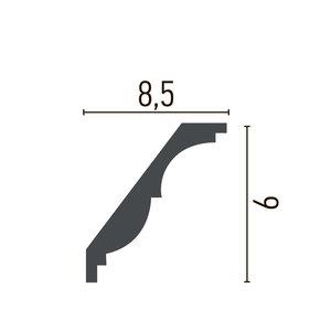 Grand Decor Kroonlijst P946 / K215 (85 x 90 mm), polyurethaan, lengte 2 m
