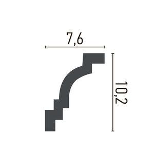Grand Decor Kroonlijst K237 / P928 (102 x 76 mm), polyurethaan, lengte 2 m