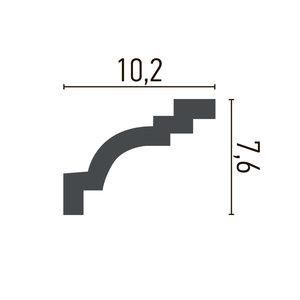 Grand Decor Kroonlijst P928 / K237 (102 x 76 mm), polyurethaan, lengte 2 m