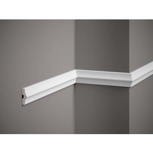 Lijst & Ornament Plint MD026 (45 x 15 mm), HDPS, lengte 2 m