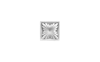 Grand Decor Ornament D400 (11 x 11 х 2,8 cm), polyurethaan