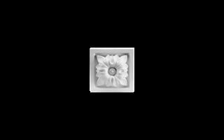 Grand Decor Ornament D401 (9 x 9 х 2,6 cm), polyurethaan