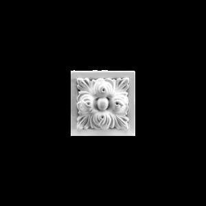 Grand Decor Ornament D490 (9,5 x 9,5 х 4 cm), polyurethaan