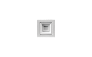 Grand Decor Ornament D493 (9,5 x 9,5 х 2,5 cm), polyurethaan