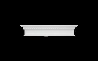 Grand Decor Fronton D419 (123,5 х 25 x 9 cm), polyurethaan