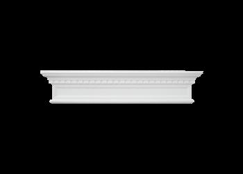 Grand Decor Fronton, gevelornament, kozijn, deuromlijsting D419 (123,5 х 25 x 9 cm), polyurethaan