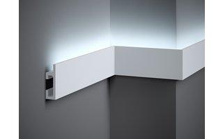Lijst & Ornament Plint LED QL019 (80 x 25 mm), lengte 2 m