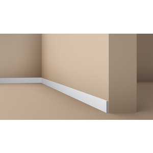 NMC Platte Plint Wallstyl /FL10 (49 x 8 mm), lengte 2 m