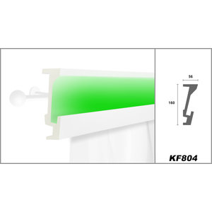 Grand Decor KF804 (160 x 70 mm), lengte 2 m, PU - LED sierlijst voor indirecte verlichting