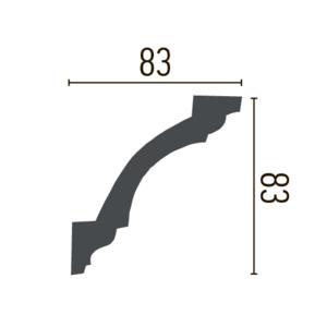 Grand Decor Kroonlijst P835 / K262 (83 x 83 mm), polyurethaan, lengte 2 m