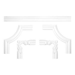 Grand Decor CR824A hoekbochten (145 x 145 mm), polyurethaan, set (4 hoeken)