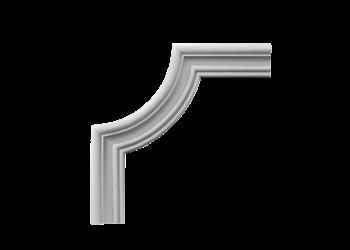 Grand Decor CR807B hoekbochten (295 x 295 mm), polyurethaan, set (4 hoeken)