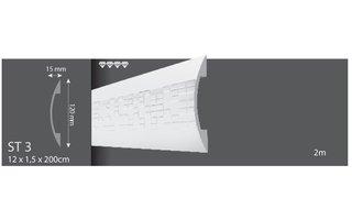 Vidella Wandlijst ST3 (120 x 15 mm), lengte 2 m